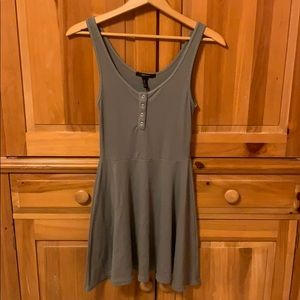 Forever 21 army green circle dress